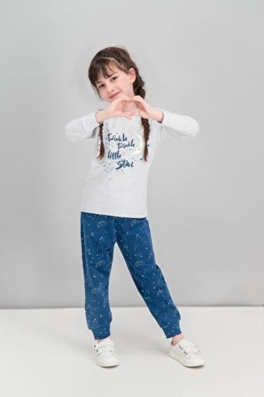 Roly Poly  Little Star Moon Pudra Kız Çocuk Karanlıkta Parlayan Pijama Gri